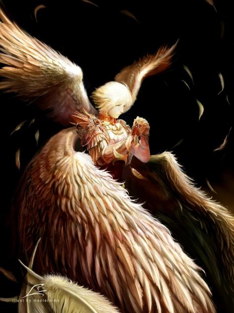 Divine Elf version of 'Winged Flight'
